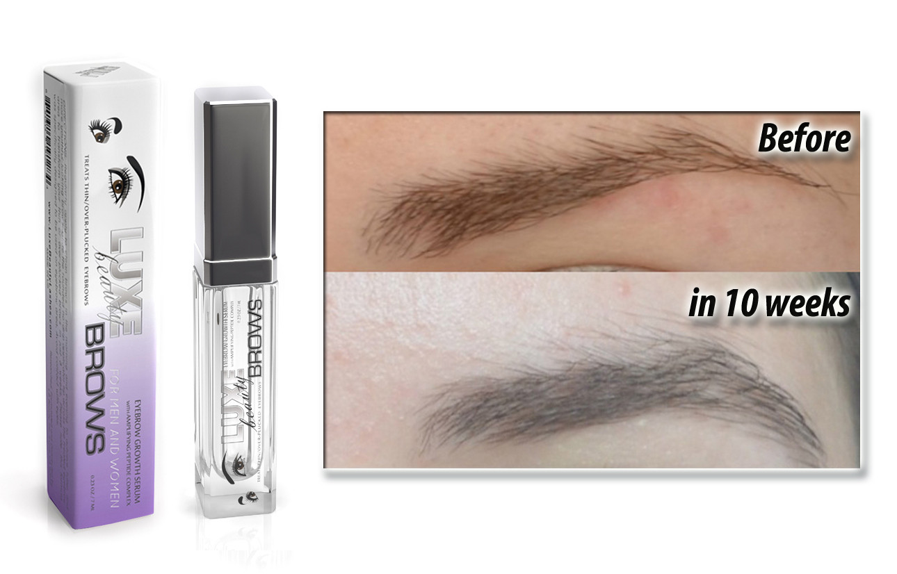 Luxe Brows Growth Enhancing Serum For Thinning Aging Over